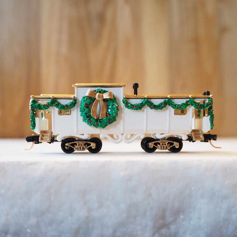 Christmas Caboose, White - side