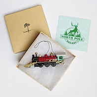 2020- Christmas Train Ornament - Package