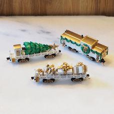 Christmas Centerpiece Set, White - 3 cars