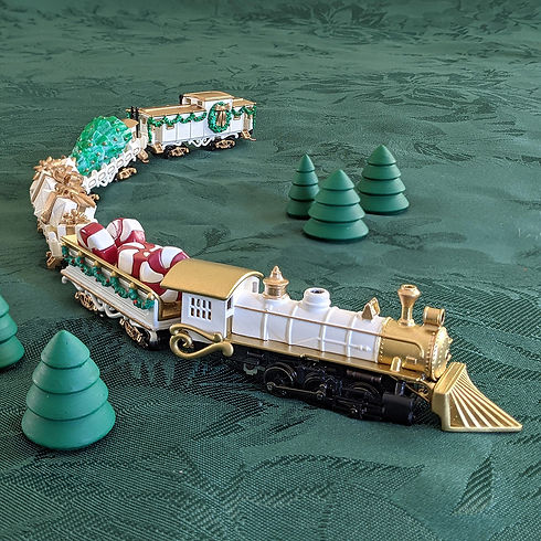NPR- Full Christmas Train - white - Bann