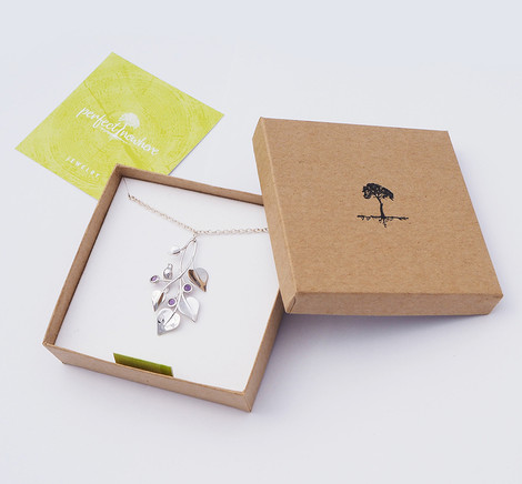 A Dove in Draping Vines, Silver - packaging