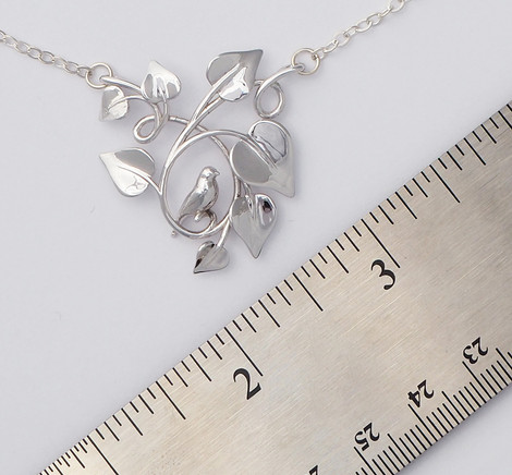 Dove Embraced, Silver - size