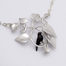Black Dove Embraced, Silver - closeup-SML.j