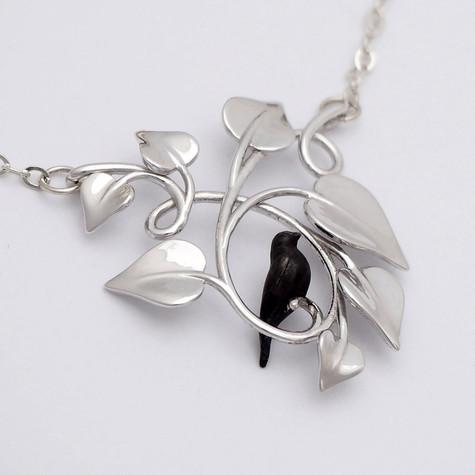 Black Dove Embraced, Silver - closeup-SML.j