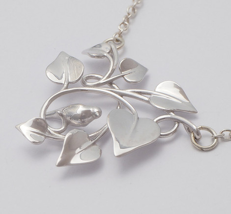 Dove Embraced, Silver - close up