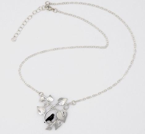 Blackbird Embraced, Silver - chain