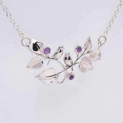 Purple Berries and the Birds, Silver
