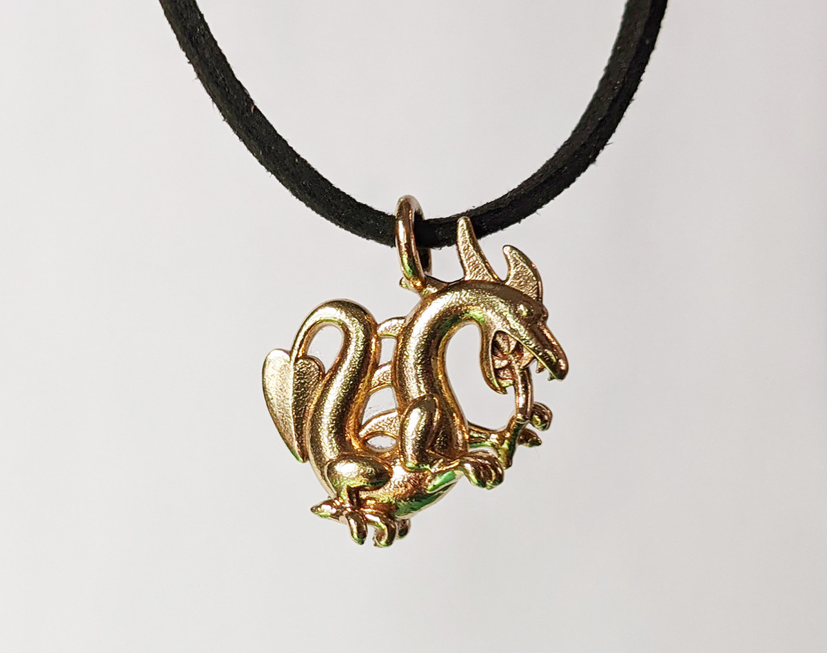 Dragon Pendant, Brass