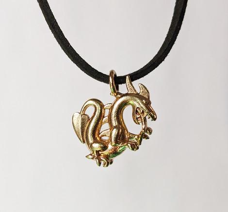 Dragon Pendant, Brass