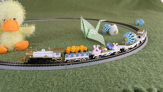 Springtime Easter n-scale train