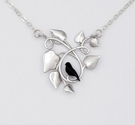 Blackbird Embraced, Silver - back