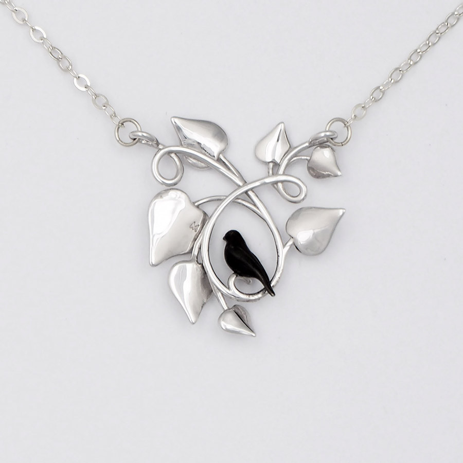 Blackbird Embraced, Silver - back