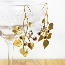 Doves in Draping Vines, earrings