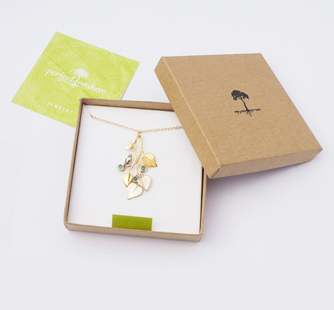 A Dove in Draping Vines, Gold - packaging