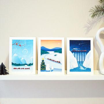 5x7 Christmas 3 Print Set