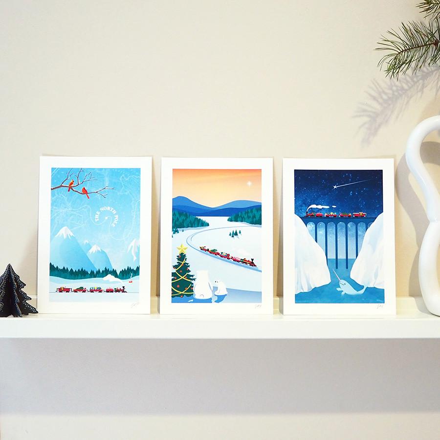 Christmas Art Print Set 1