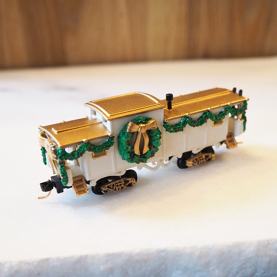 Christmas Caboose, White - front 2