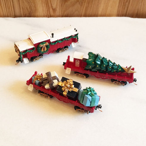 Classic Christmas Set, Red - 3 cars