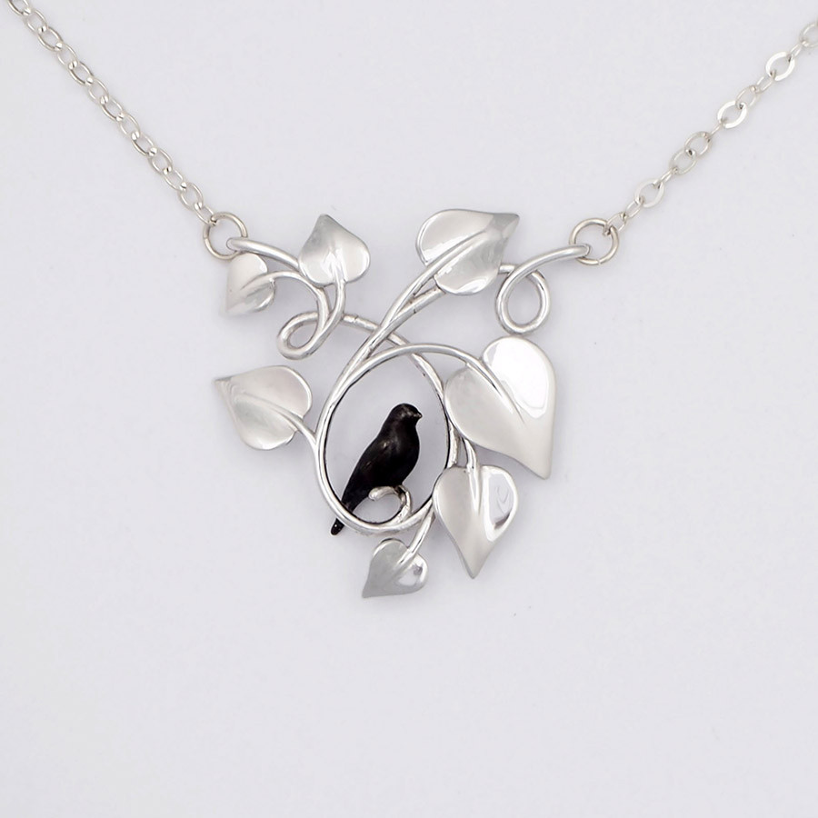 Blackbird Embraced, Silver - front