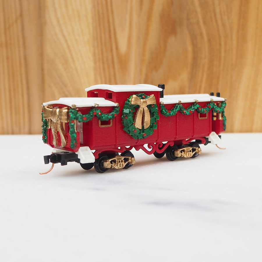 Christmas Caboose, Red - back