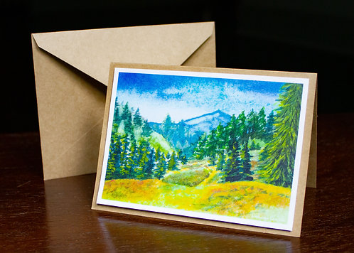 Watercolor #8 Greeting Card