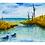 Thumbnail: Vinyl Sticker or Magnet | Watercolor #6