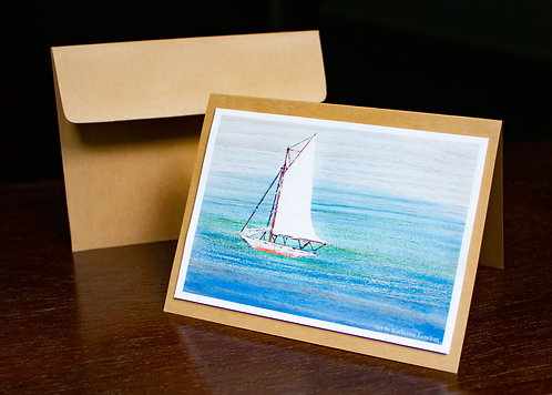 Silk Waters Greeting Card