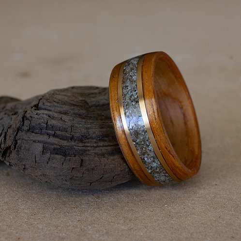 Koa with 14k Gold and Custom Sand