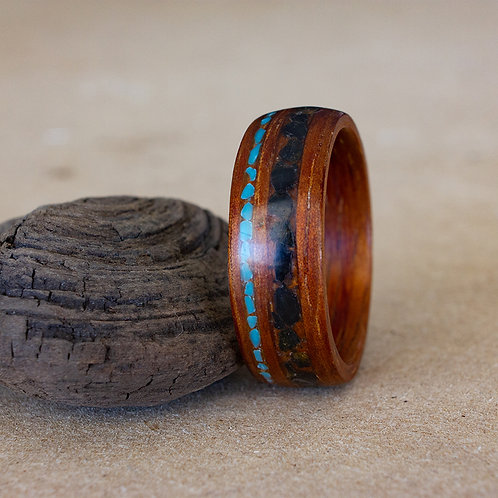 Koa with Turquoise and Shark Tooth