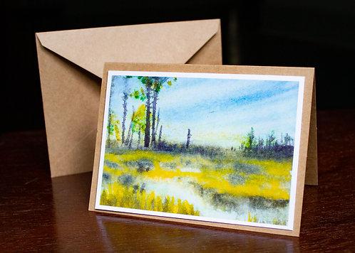 Watercolor #5 Greeting Card