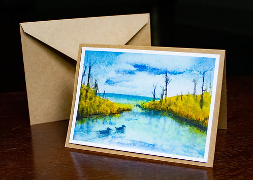 Watercolor #6 Greeting Card