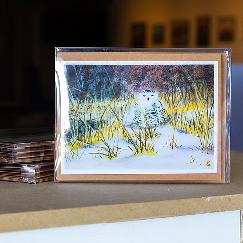 Greeting Cards - Winter Snowy Owl