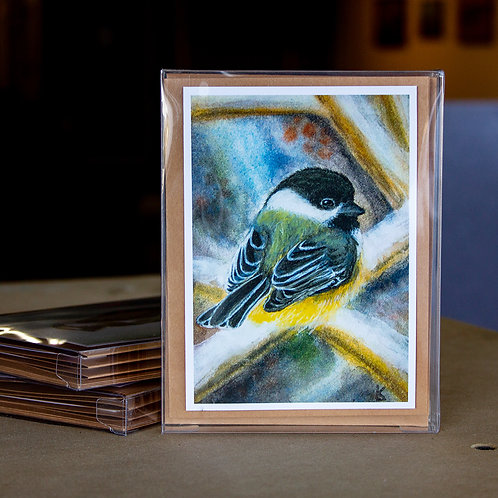 Greeting Cards - Winter Chickadee