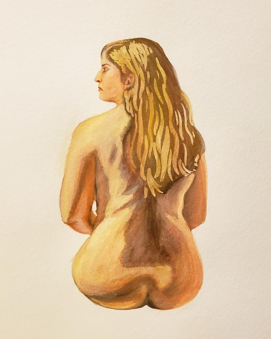 Self Portrait Figure Study