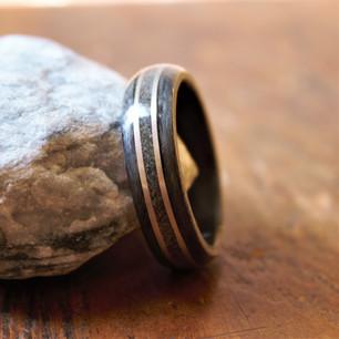 Dark Silver Bird's Eye Maple w/ Steel and Quartz Sand
