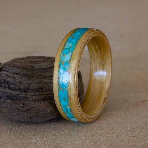 White Oak with Turquoise