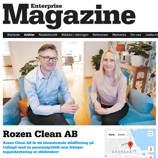 Läs om Rozen Clean AB  i Enterprise Magazine