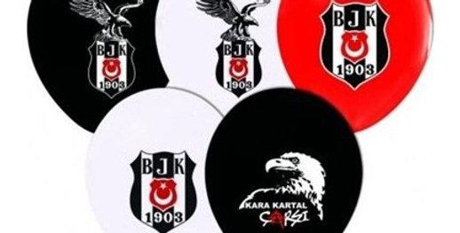 Beşiktaş Doğum Günü Temalı Baskılı Lateks Balon - 10 Adet