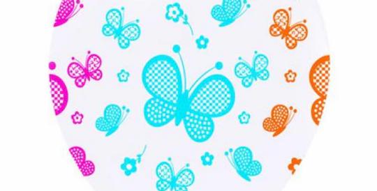 Kelebek Baskılı Lateks Balon - 10 Adet