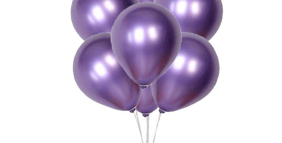 Metalik Mor Balon 100 Adet