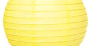 Sarı Yuvarlak Fener Süs (20 cm)