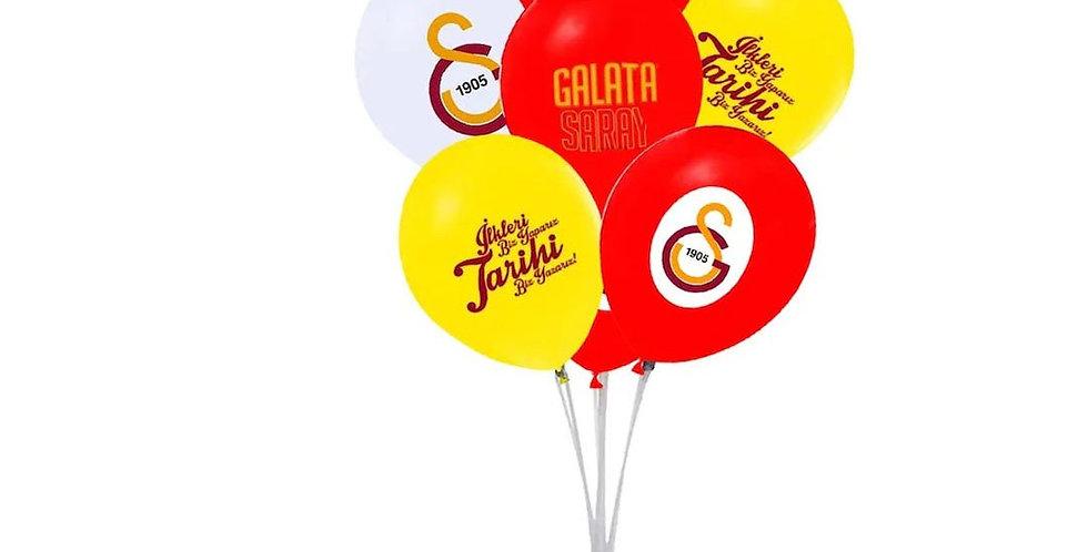 Galatasaray Doğum Günü Temalı Baskılı Lateks Balon - 10 Adet