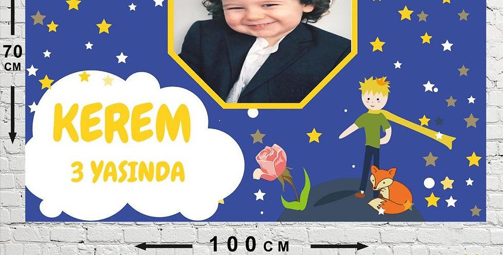 Küçük Prens Kişiye Özel Doğum Günü Parti Afişi 70*100 cm