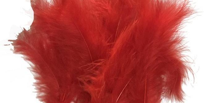 Şeffaf Balon İçi Tüy Kırmızı (100 adet)