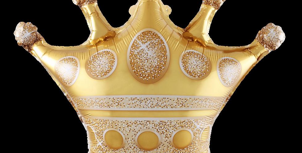 Kral Tacı Altın Renk Folyo Balon