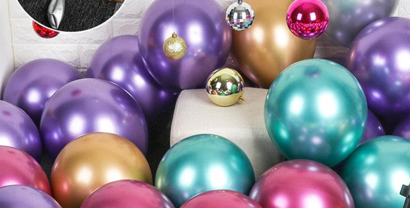 Karışık Krom Balon 10 Adet