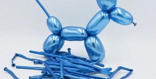 Krom Mavi Sosis Balon 5 Adet