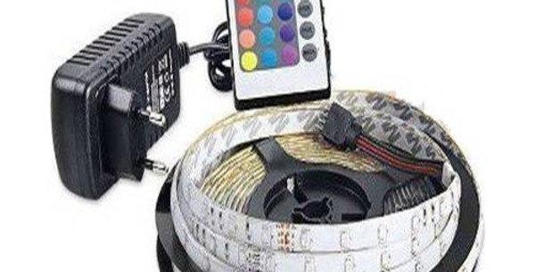 5 Metre Karışık Renk Şerit Led İç Mekan Tak Çalıştır Set