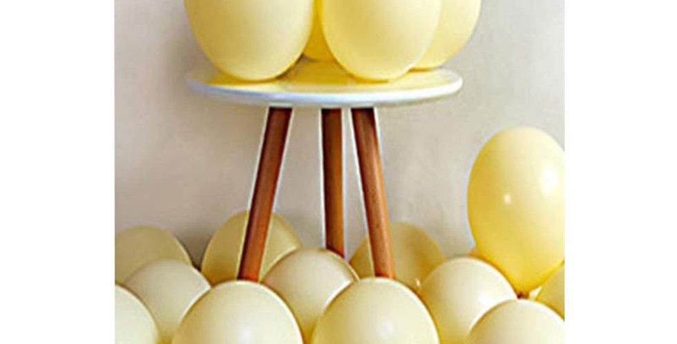 Makaron Sarı Balon 50 Adet