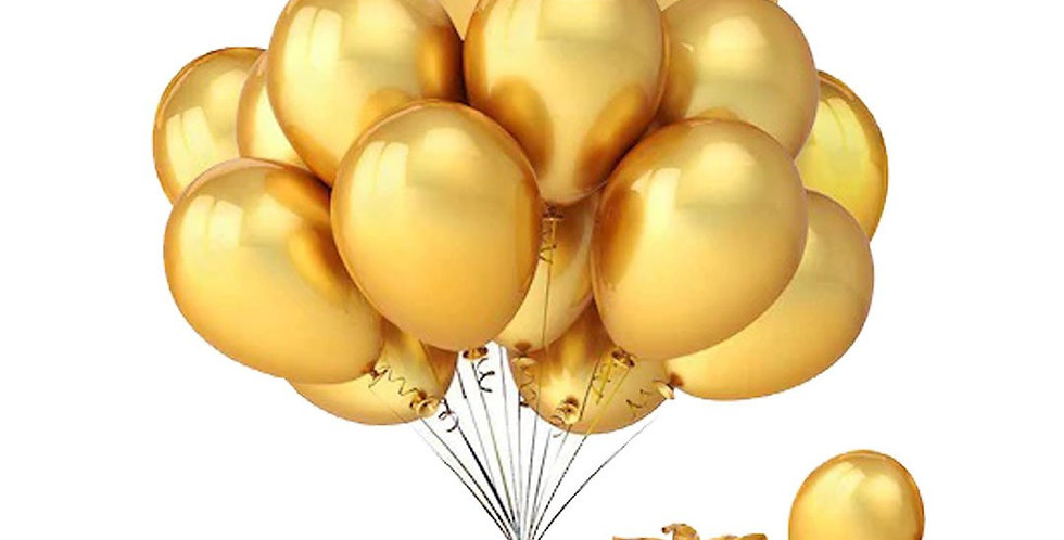Metalik Gold Balon 15 Adet